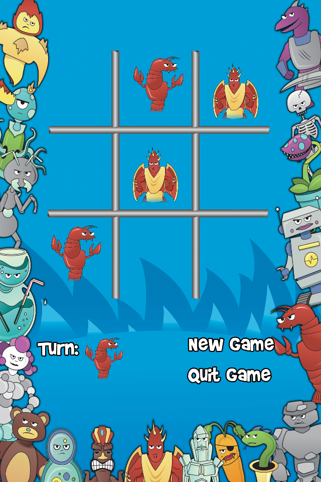 Screenshot Monster Tac Toe Free